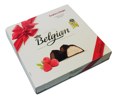 401531 BELGIAN RASPBERRY DELIGHT  12x200G